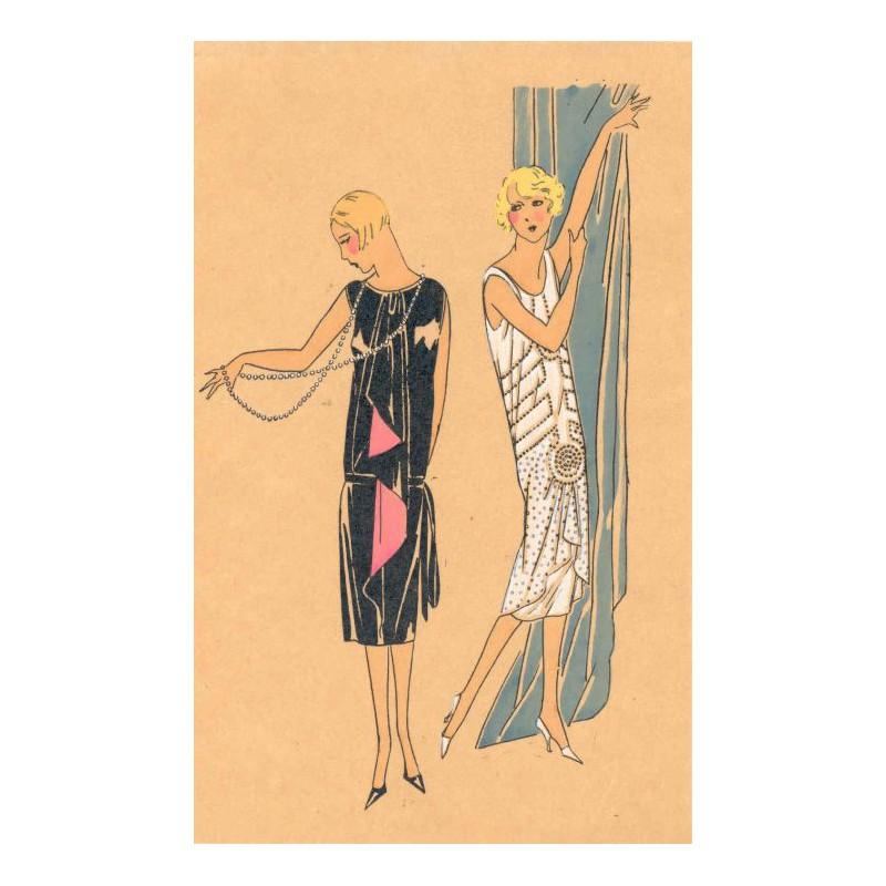 Dekorative modezeichnung pochoire art deco paris 1925 nr - Magasin art deco paris ...
