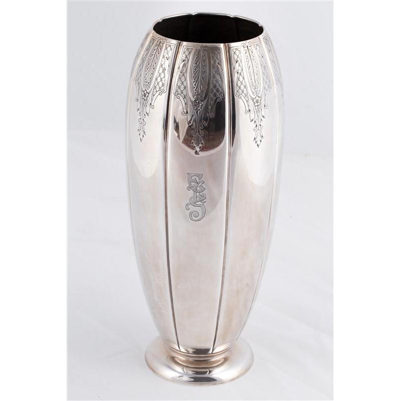 silver vase art deco antikhaus insam. Black Bedroom Furniture Sets. Home Design Ideas