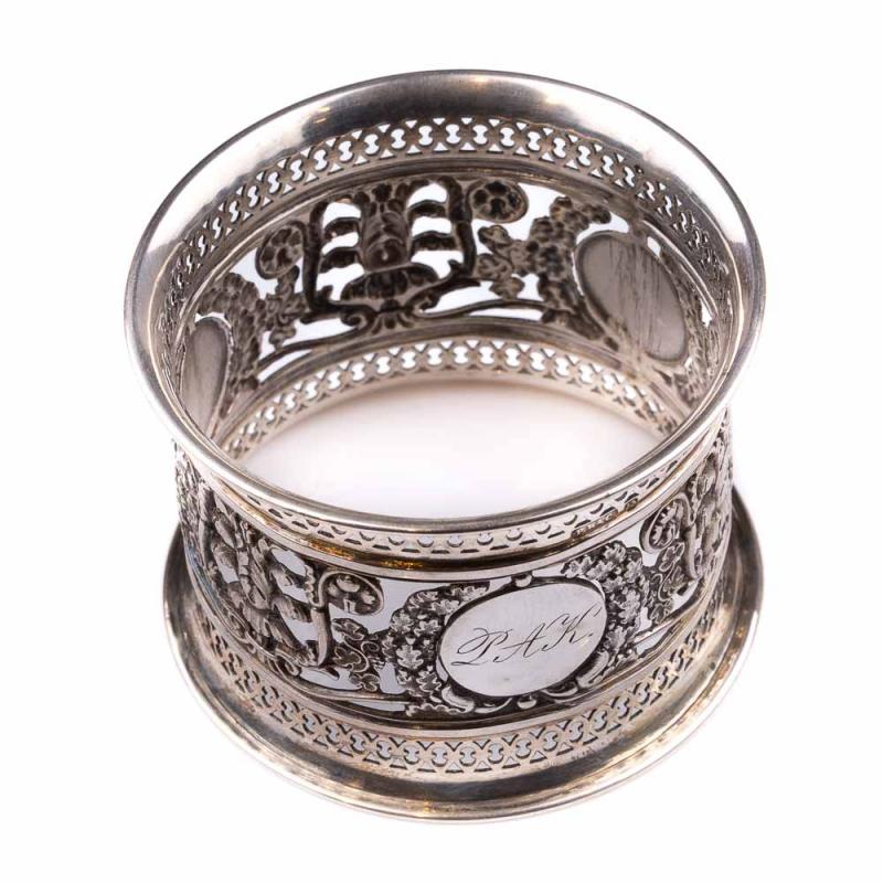 silver napkin ring 1880 antikhaus insam