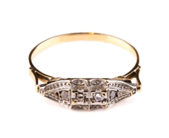 Antiker Ring Art Deco 18 Karat Platin