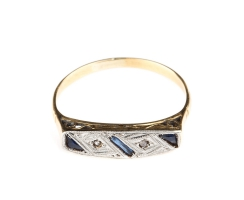 Art Deco Ring 18 Kt