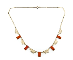 Artdeco Collier orange 1920