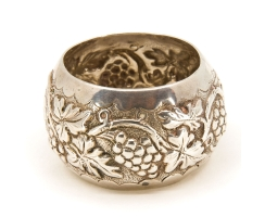Antique silver napkin ring